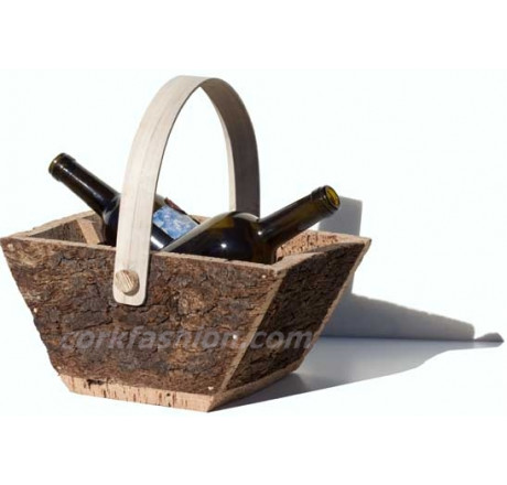 Basket for 2 bottles (model RC-GL0703003001) from the manufacturer Robcork in category Corkfashion